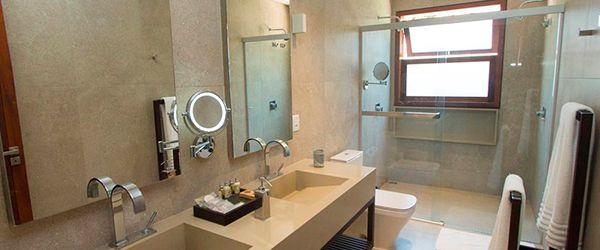 Banheiro das acomodações do Kûara Hotel - Arraial d'Ajuda