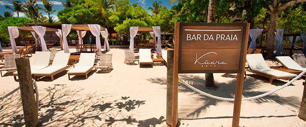 Bar da praia do Kûara Hotel - Arraial d'Ajuda