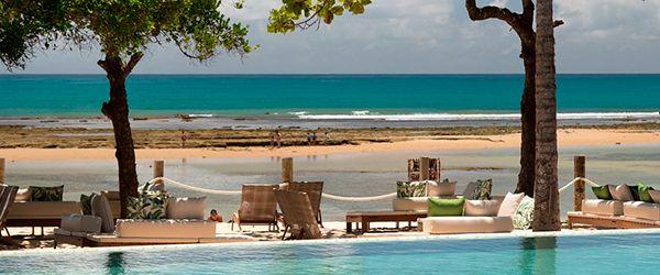 Praia em frente ao Kûara Hotel - Arraial d'Ajuda