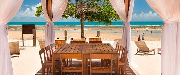 Lounge da praia do Kûara Hotel - Arraial d'Ajuda
