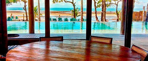 Vista do restaurante do Kûara Hotel - Arraial d'Ajuda