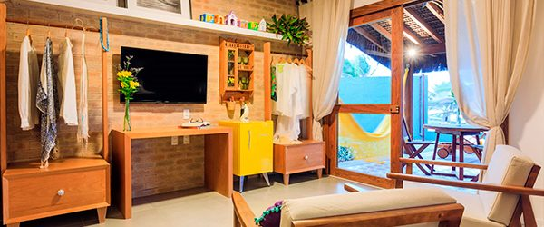 Sala de estar do Bangalo - Village Porto de Galinhas