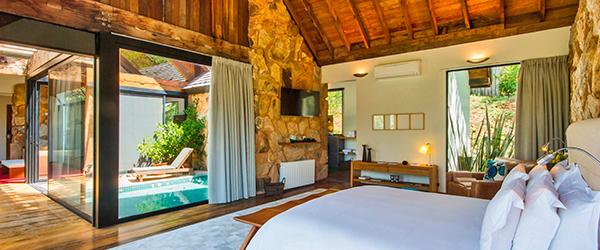 Acomodações do Hotel de Luxo Botanique