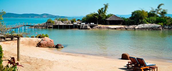 Praia do resort Ponta dos Ganchos