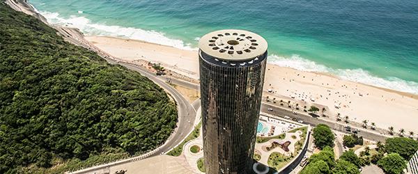 Vista aérea do Hotel Nacional Rio