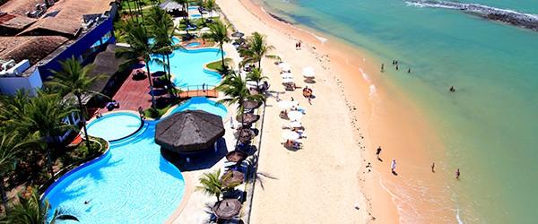 Resort pé na areia em Arraial d'Ajuda