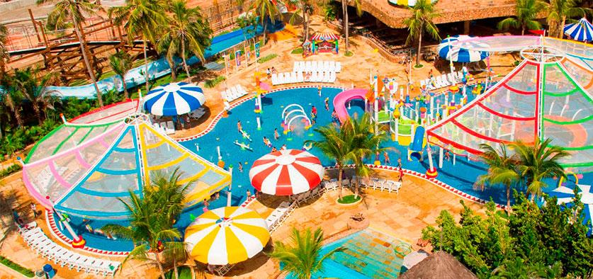 Vista aérea Acqua Circo diversão para os pequenos