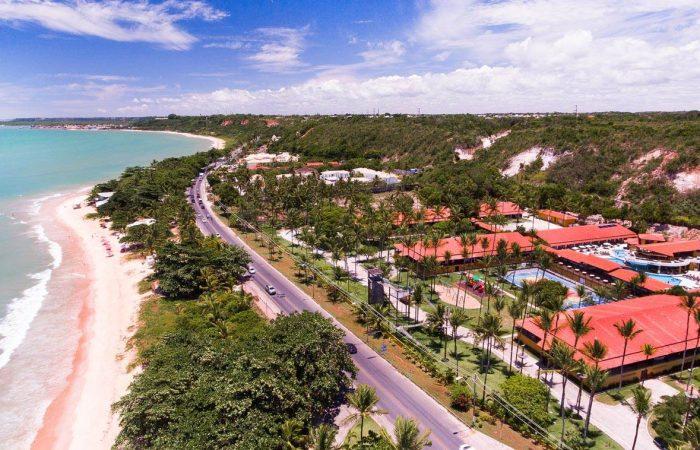 Aérea Porto Seguro Praia Resort com detalhes do resort