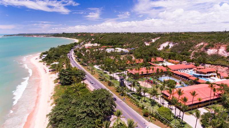 aérea resort com vista da praia
