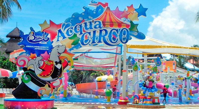 Entrada Acqua circo diversão garantida para crianças