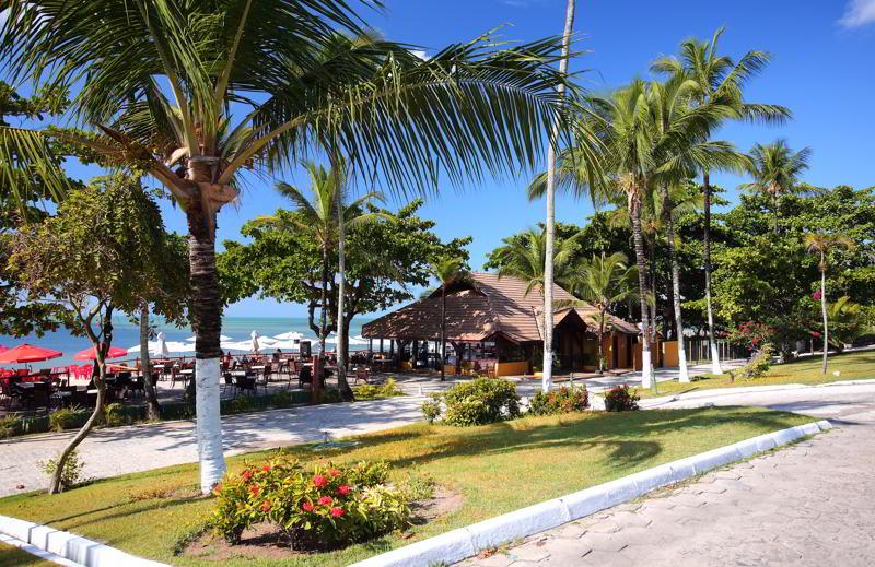 estrutura praia frente resort