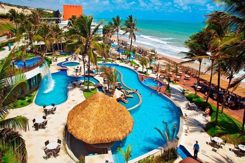 Vista aérea da piscinas principais