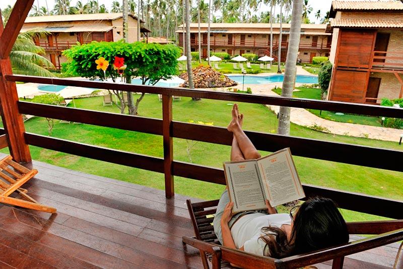 varanda descanso para leitura
