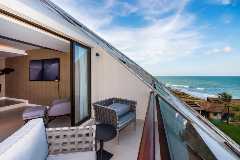 Varanda com vista panorâmica mar