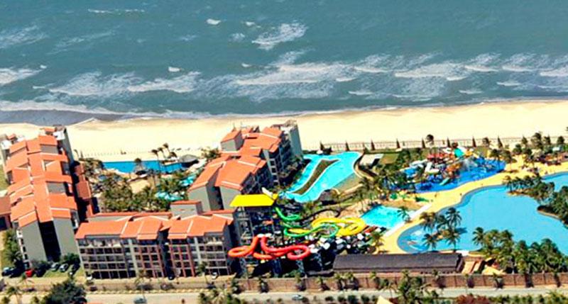 Vista aérea panorâmica Acqua Beach Park