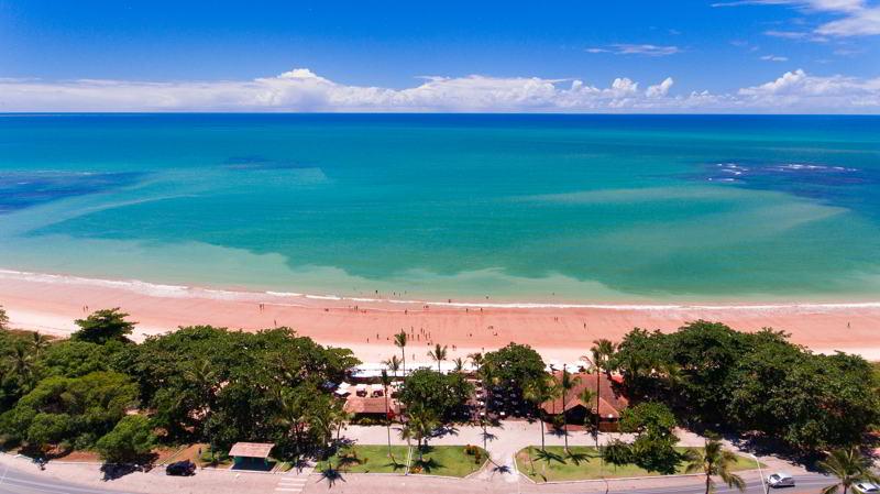 vista aérea panorâmica praia resort