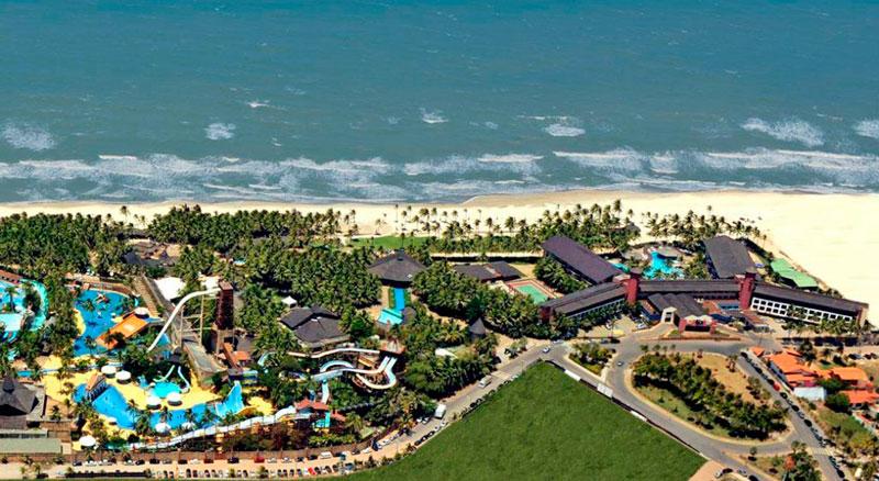 vista aérea resort durante o dia