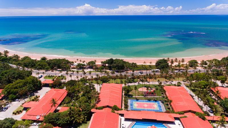 vista aérea resort frente mar