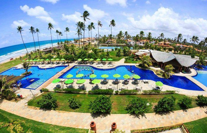 Vista panorâmica piscina Vivá Resort