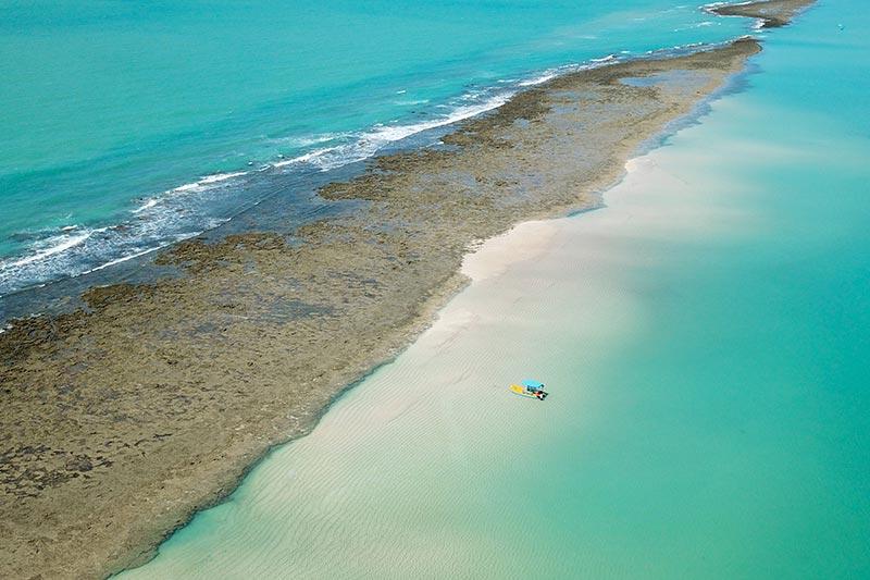 Japaratinga na costa dos corais em um lugar simplesmente paradisíaco