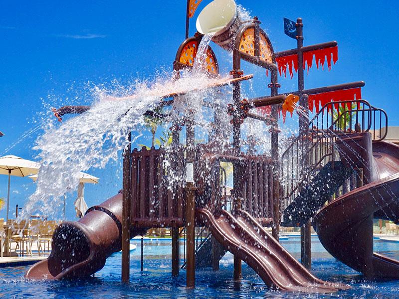 Playground na água para crianças