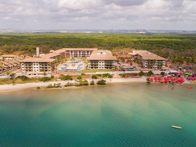 Vista aérea panorâmica Samoa Beach Resort