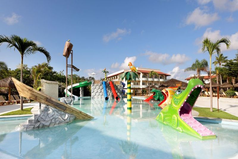 Playground trazendo muita diversão na água