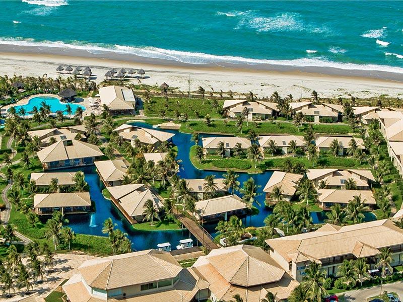 Vista aérea frente mar Dom Pedro